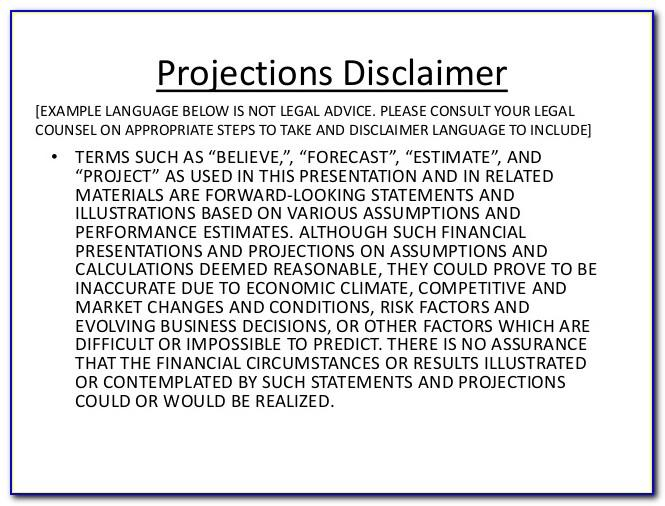 not legal advice disclaimer template