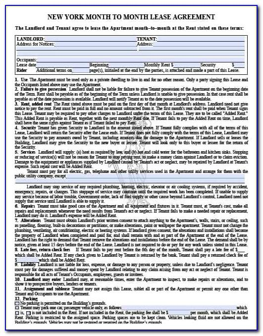 Nys Landlord Tenant Lease Agreement