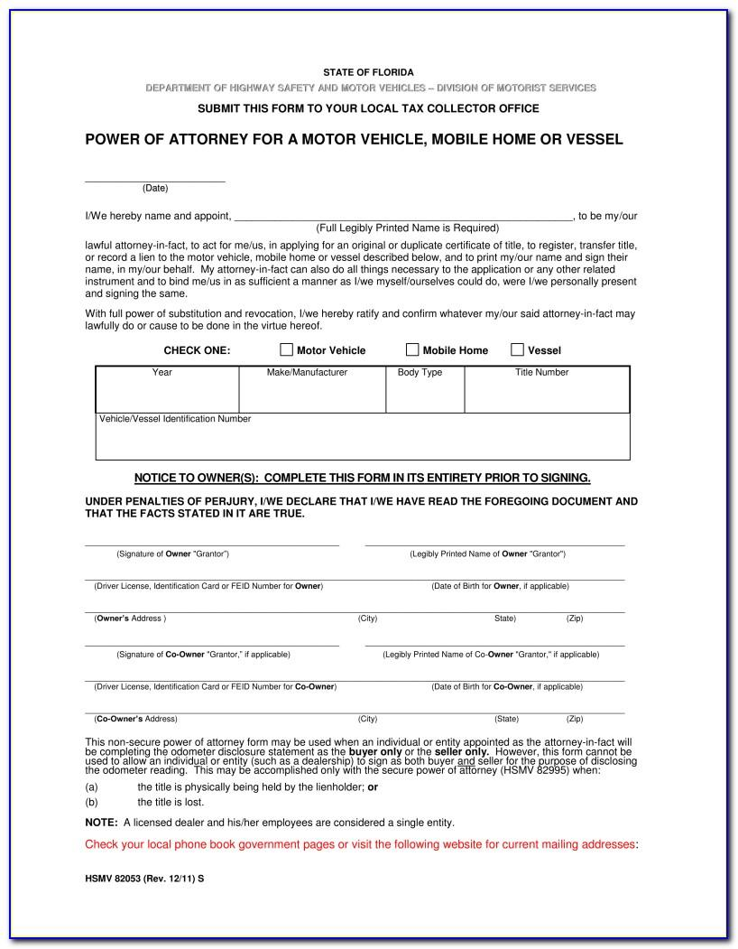 Ohio Bmv Limited Power Of Attorney Form