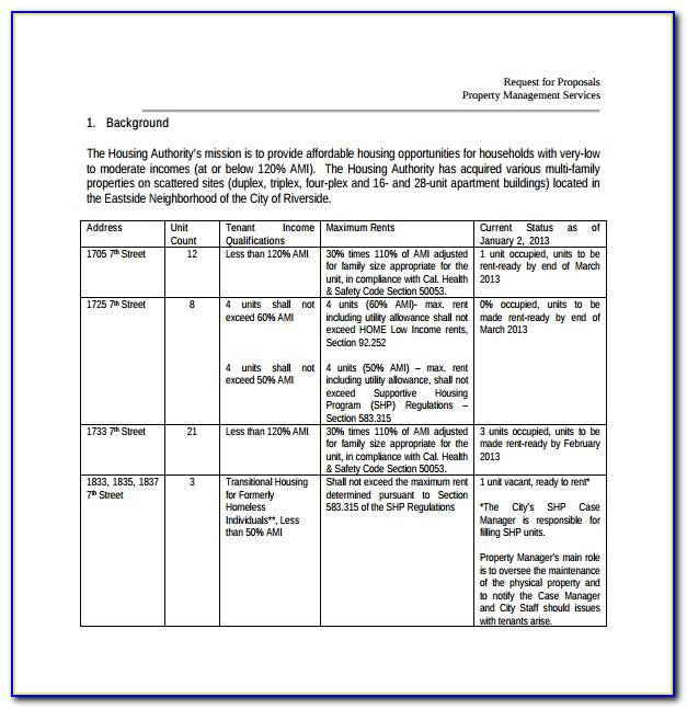 Property Management Services Proposal Sample