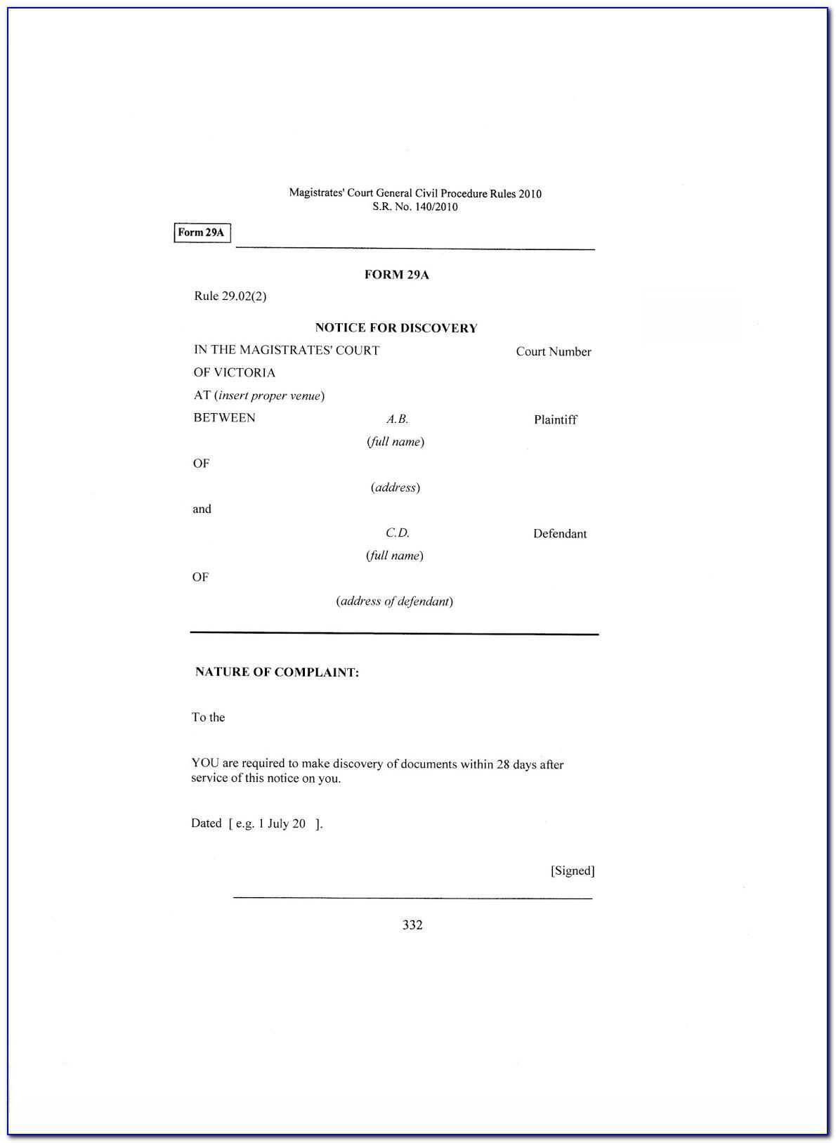 Qld Magistrates Court Affidavit Template