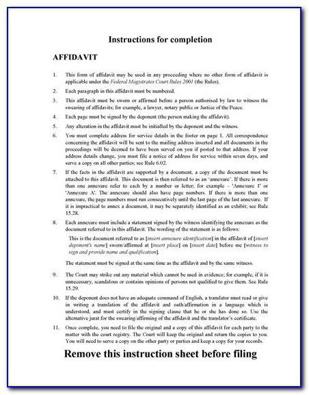 Queensland Magistrates Court Affidavit Form
