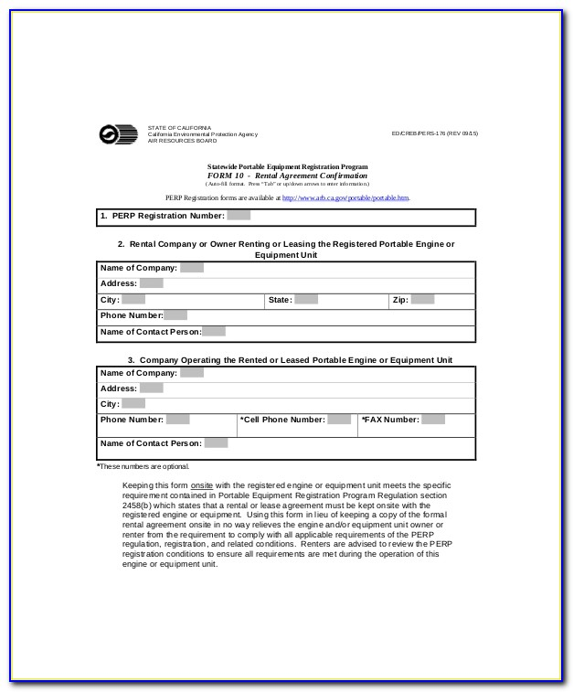 Rent Agreement Form Texas