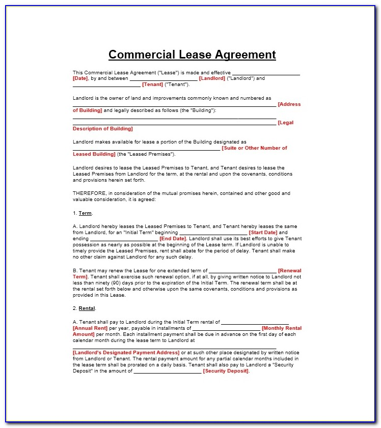 Rental Agreement California Template