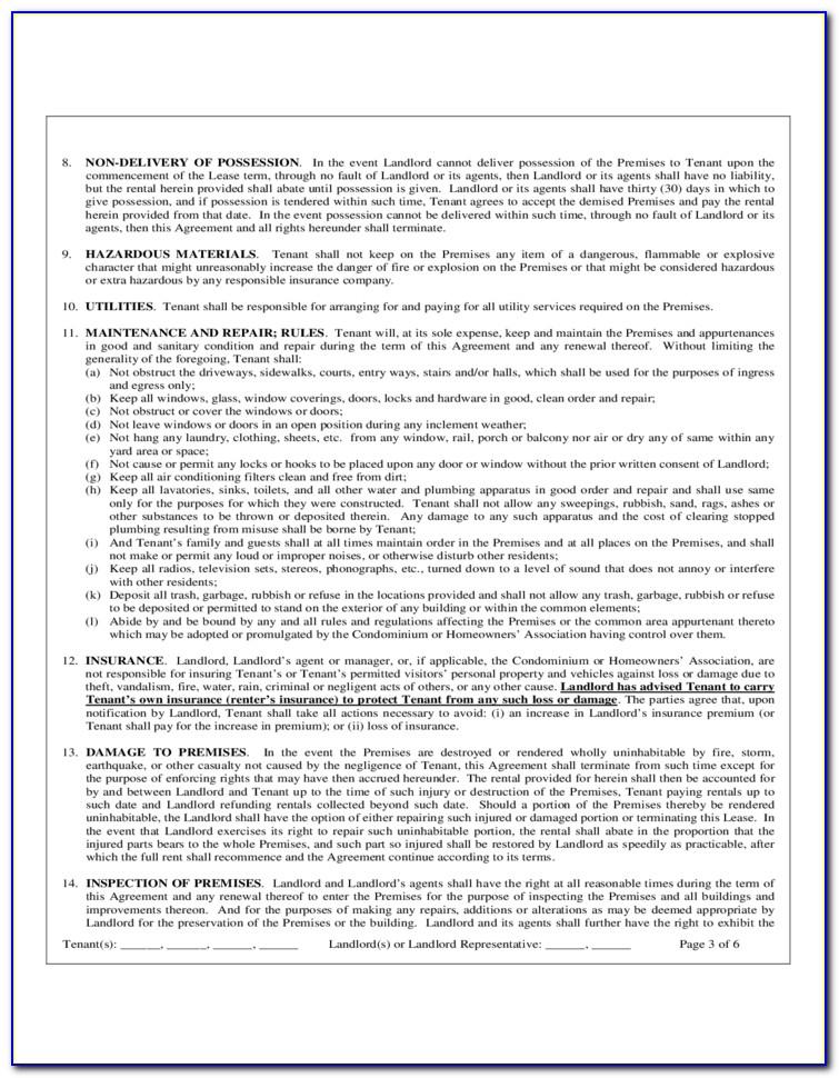 Rental Agreement Florida Pdf