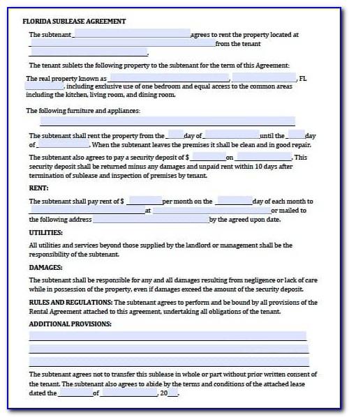 Rental Agreement Form California Pdf