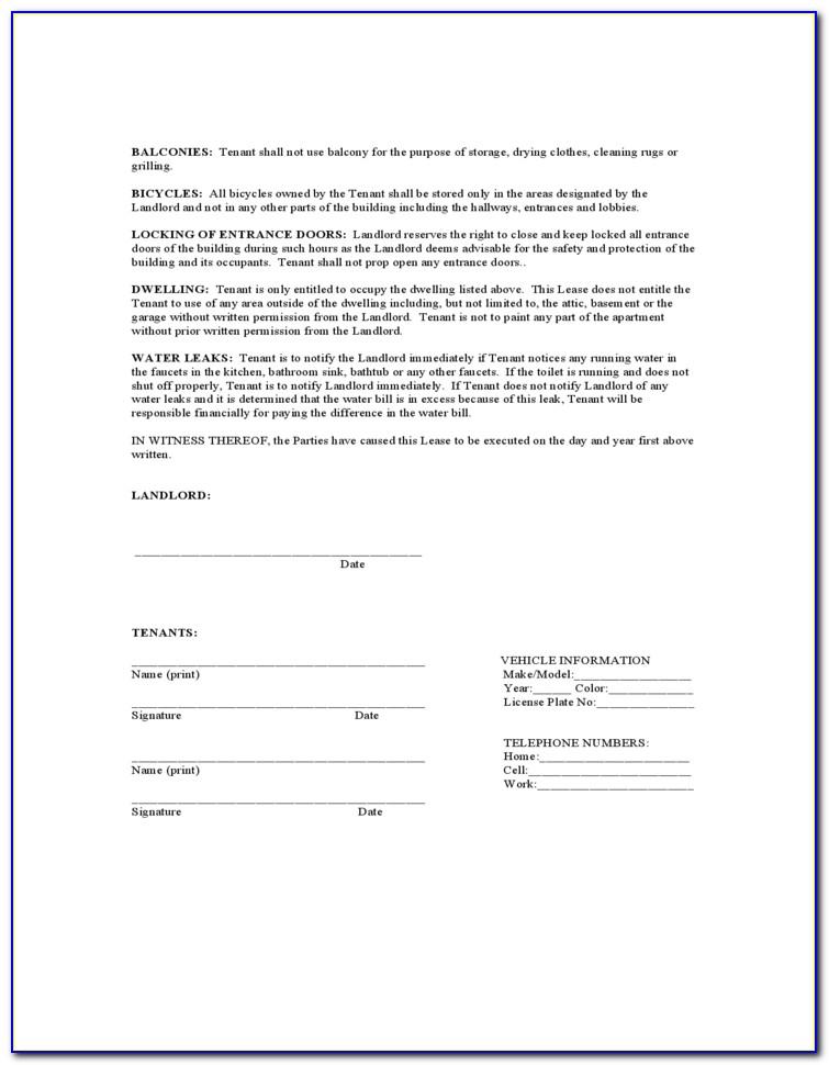 Rental Agreement Form Texas Pdf