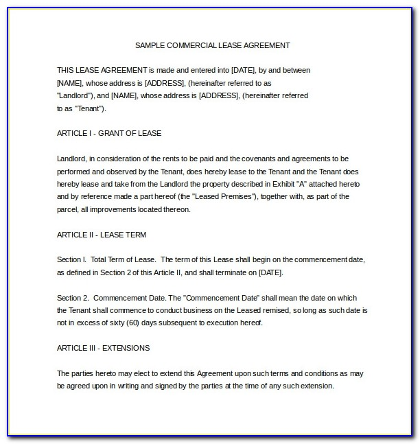 Rental Agreement Form Word Doc