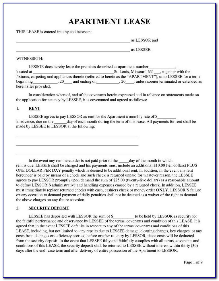 Rental Agreement Format Word Bangalore