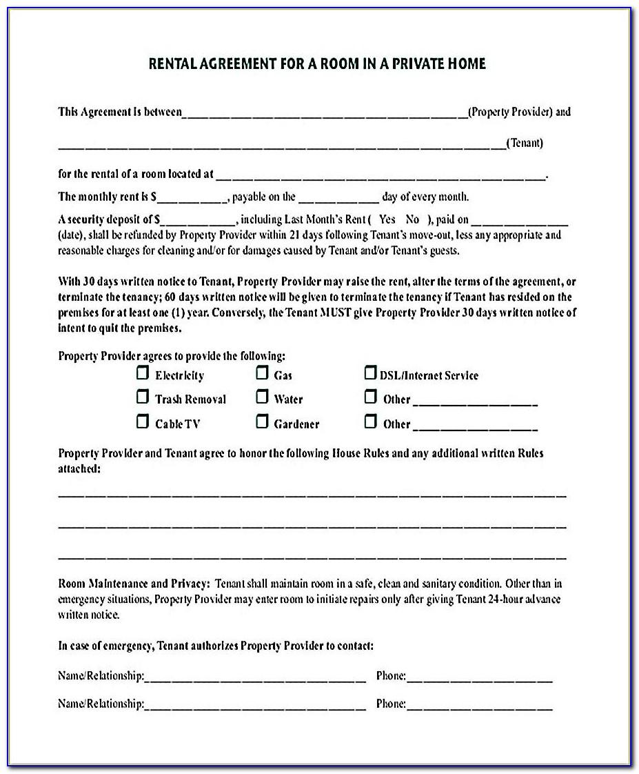 Rental Agreement Template Ga