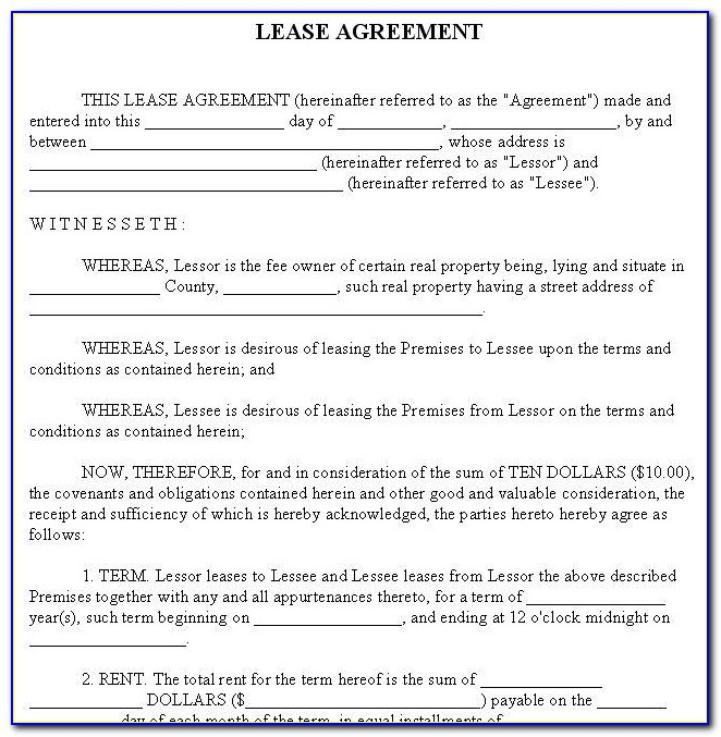 Rental Agreement Template Microsoft Word