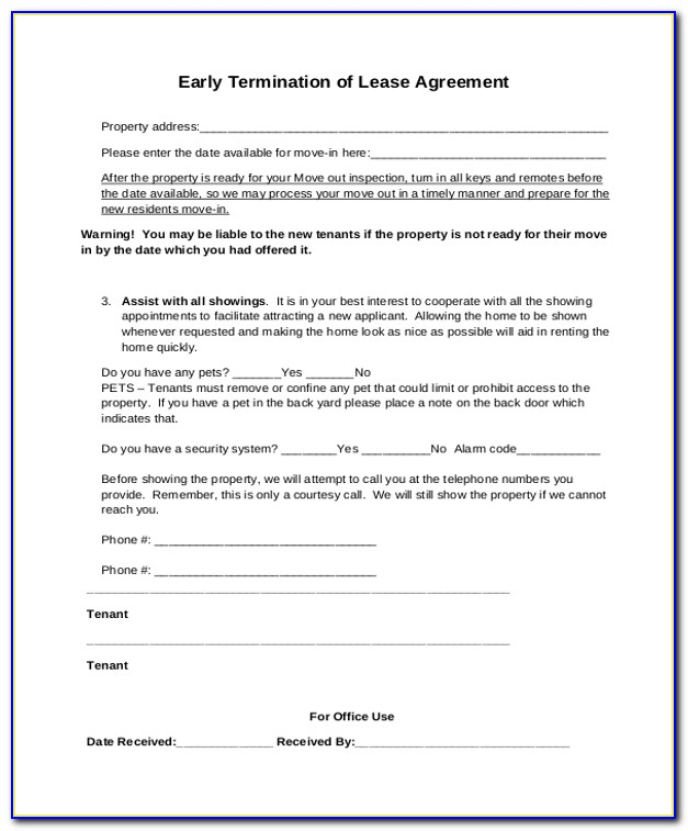 Rental Agreement Termination Letter Format India