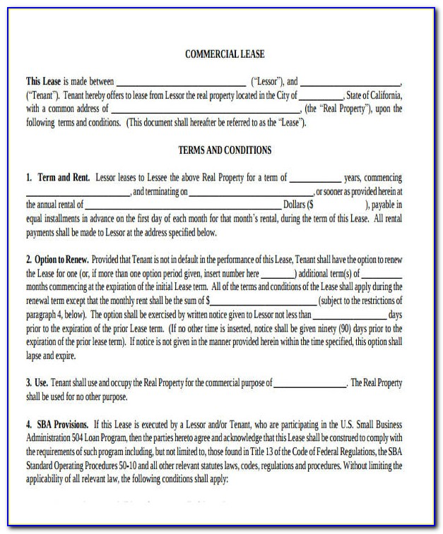 Rental Lease Agreement Florida Word Document