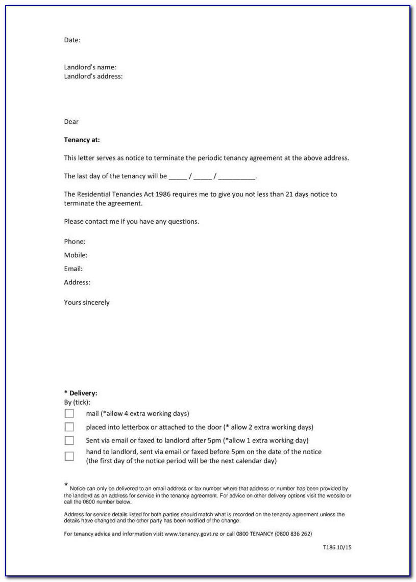 Rental Termination Letter Template