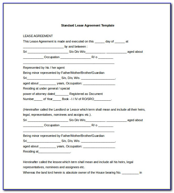 Renting Contract Template Uk
