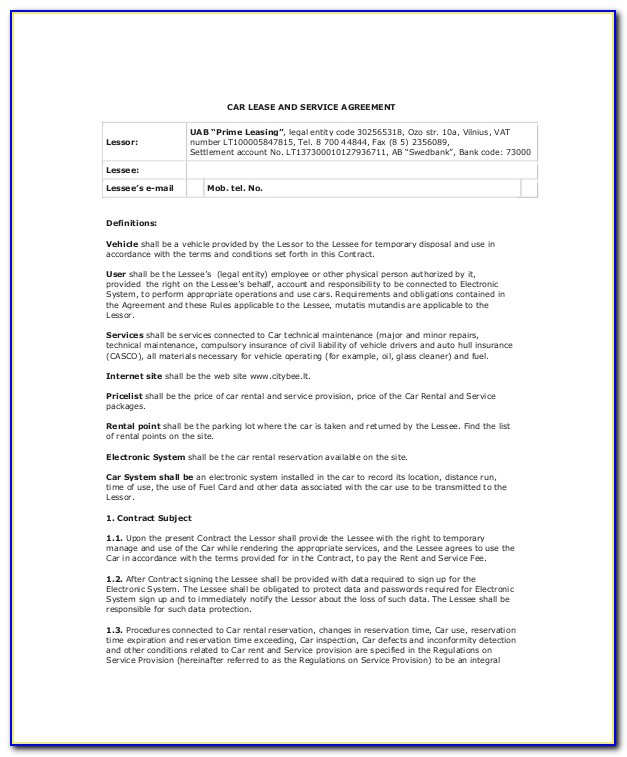 Residential Lease Purchase Agreement Template