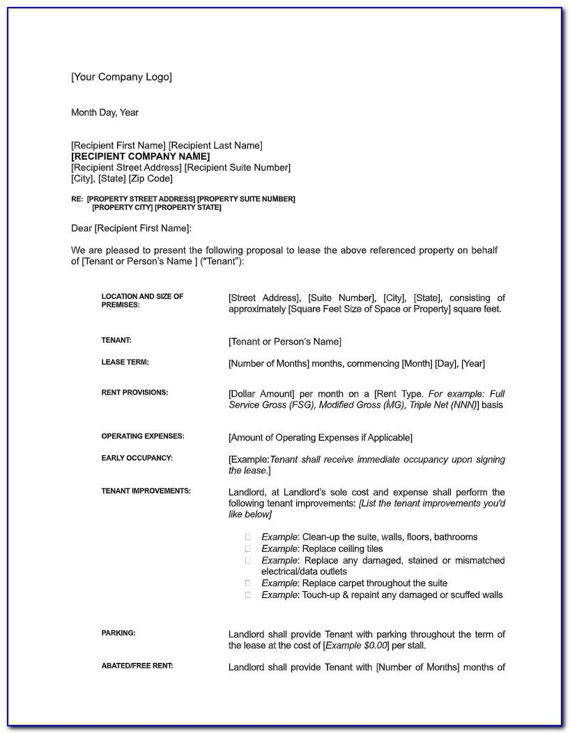 Sample Letter Of Intent To Lease Commercial Space Philippines