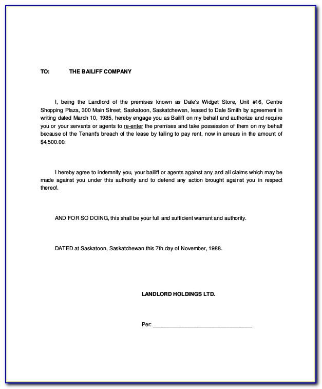 Sample Notice Of Lease Termination Letter From Landlord To Tenant