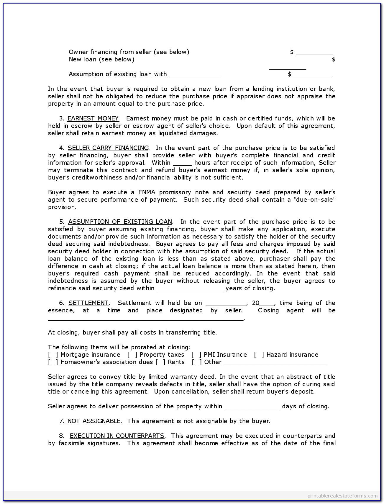 Selling Land Contract Agreement