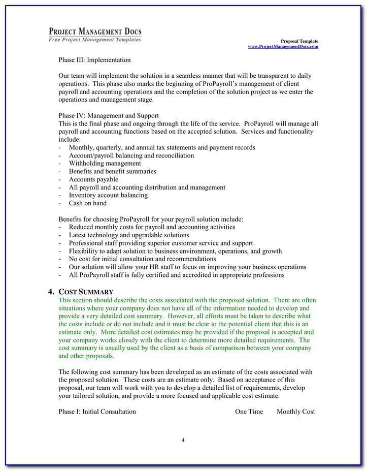 Service Management Plan Sample