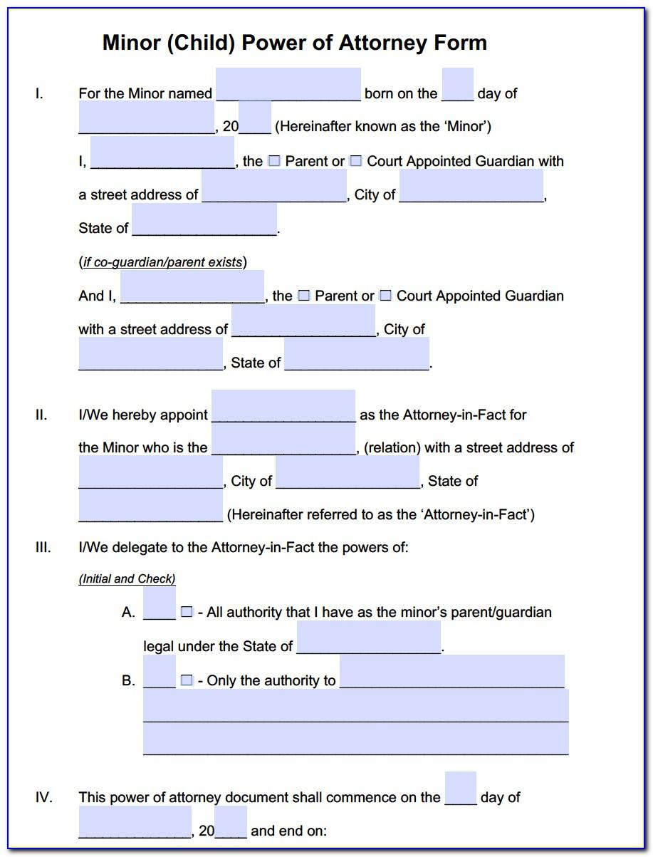 State Of Ohio Limited Power Of Attorney Form