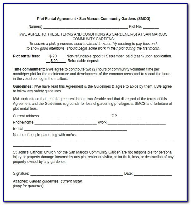 Tenancy Agreement Word Document