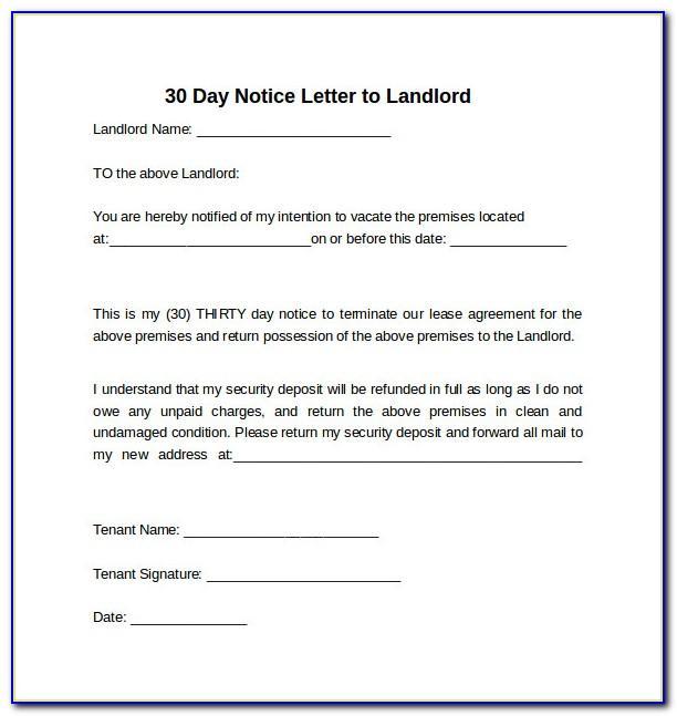 Tenancy Notice Letter Sample Uk