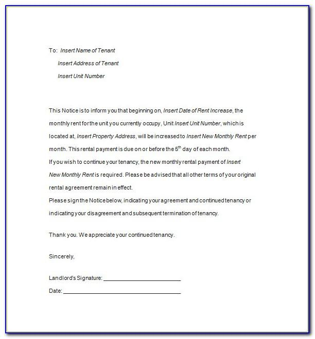 Tenancy Termination Letter Template Nz