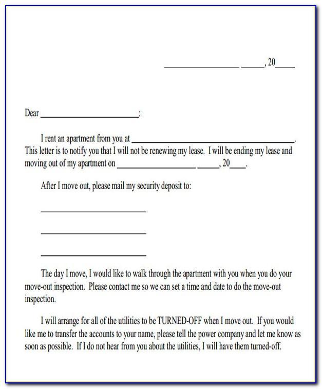 Tenancy Termination Notice Letter Sample