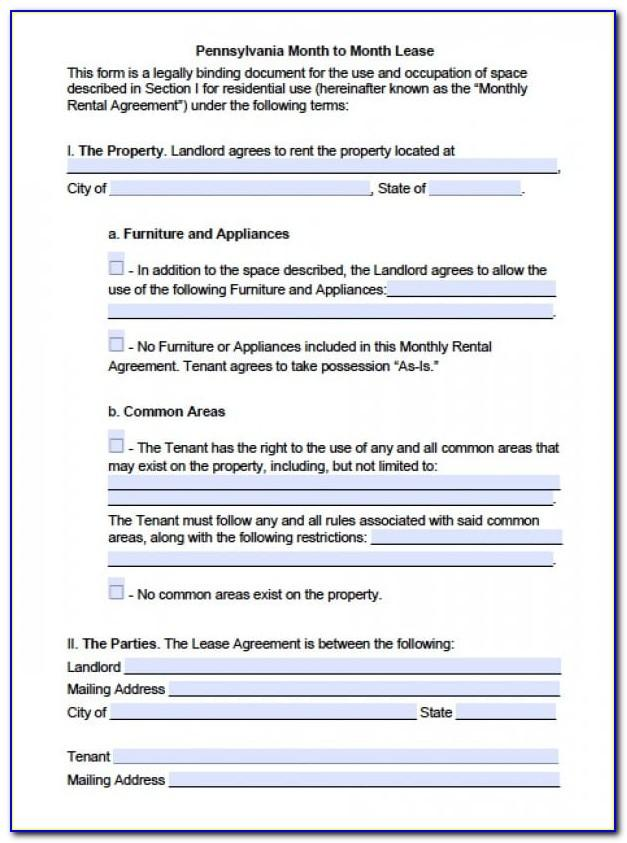Tenant Landlord Rental Agreement Ontario