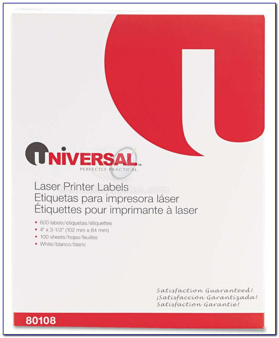 Universal Laser Printer Labels Template 80107