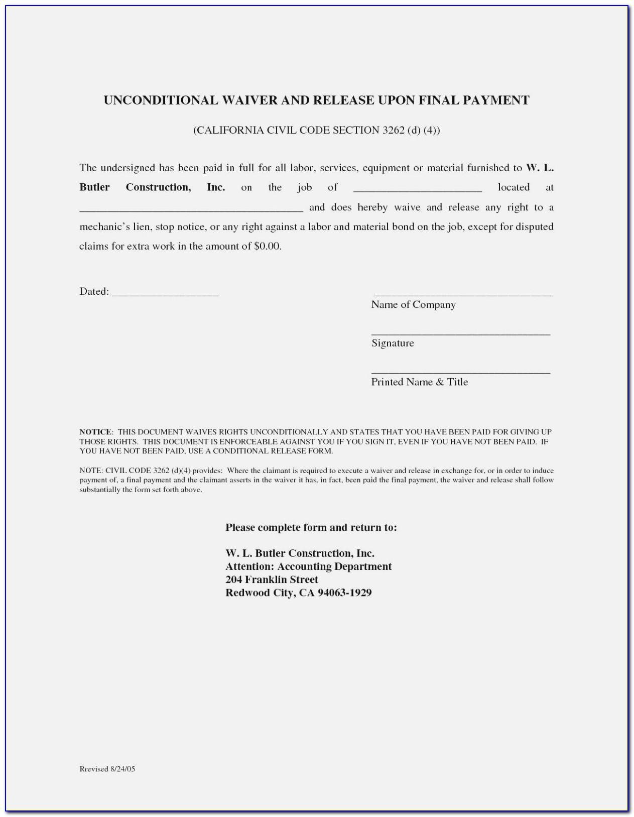 Vehicle Lien Release Letter Sample