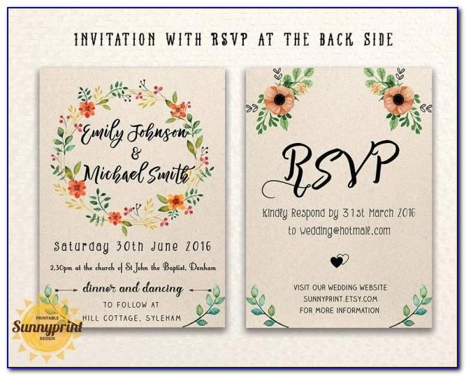 Wedding E Invitation Templates