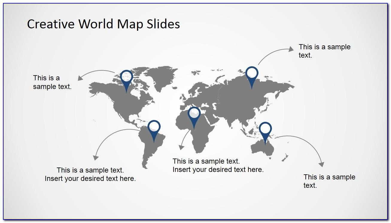 World Map Ppt Template Free Download