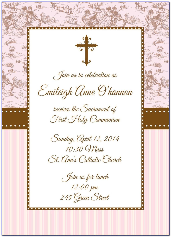 1st Holy Communion Invitation Templates