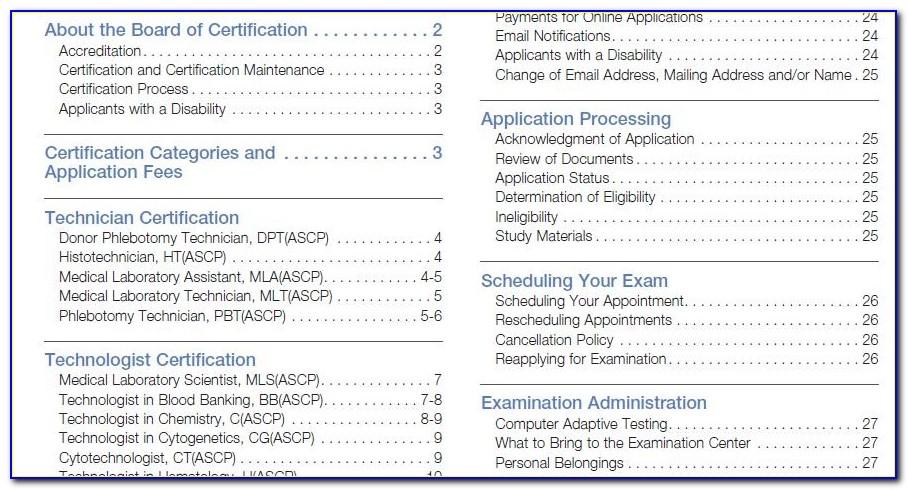 Ascp Board Of Certification Login