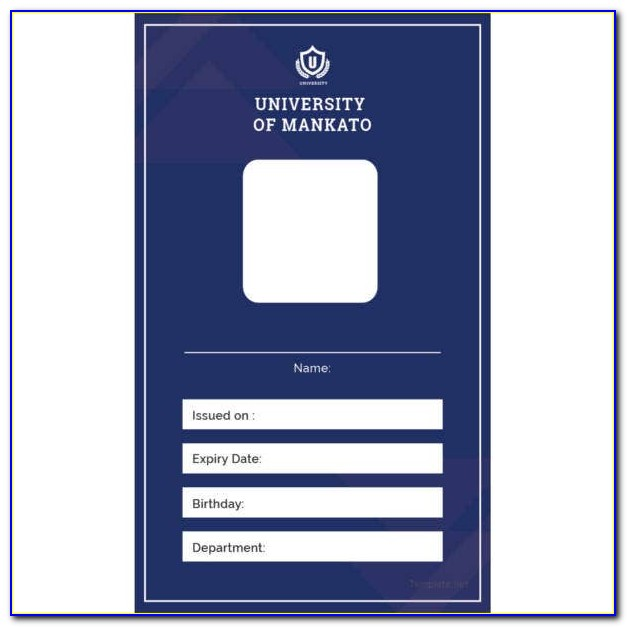 Blank Id Card Template Photoshop