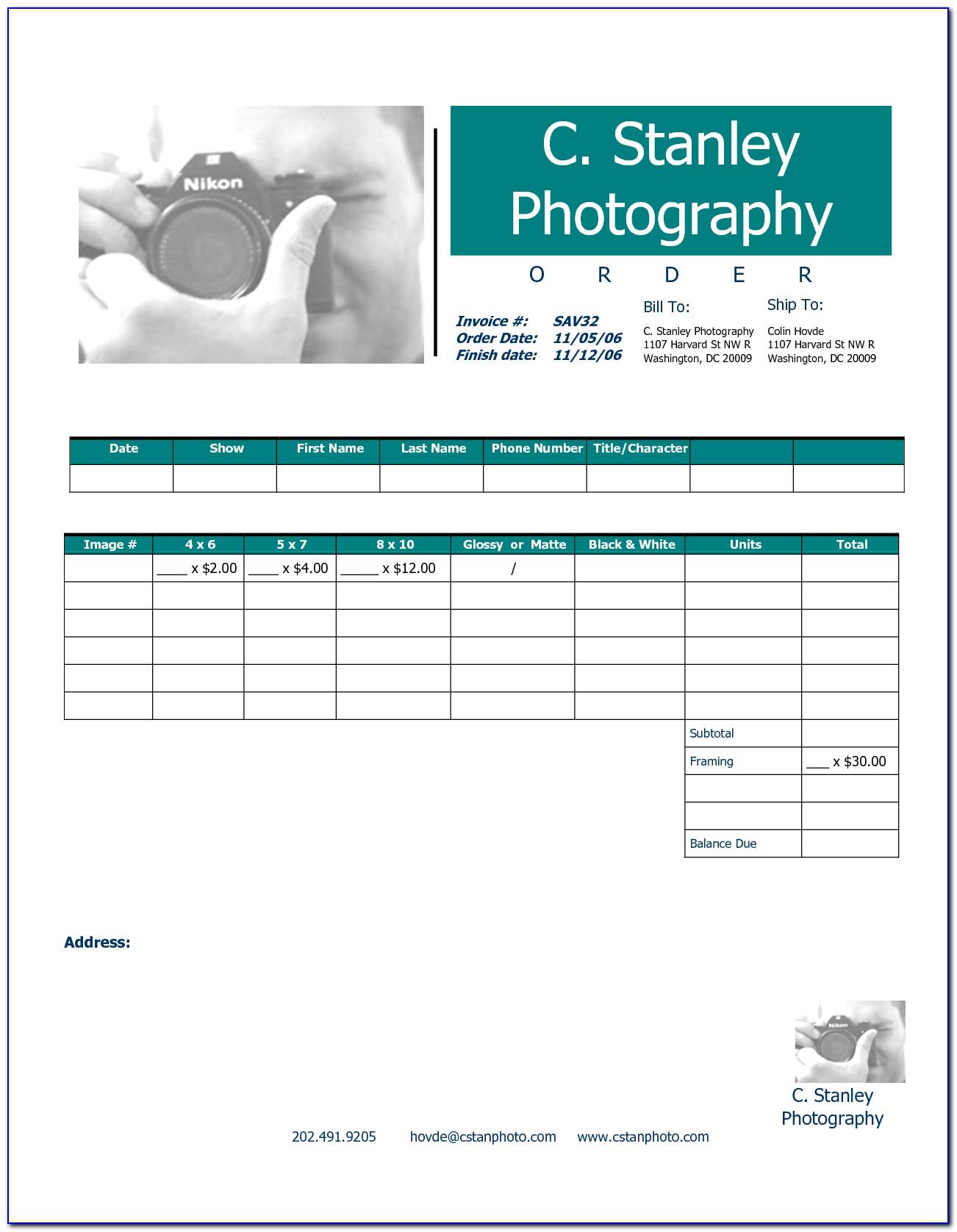 Blank Invoice Template Free Printable