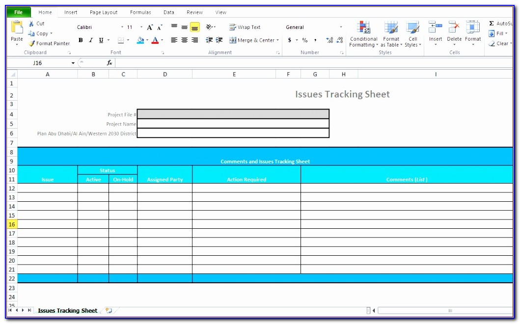 Bug Tracking Excel Template Free