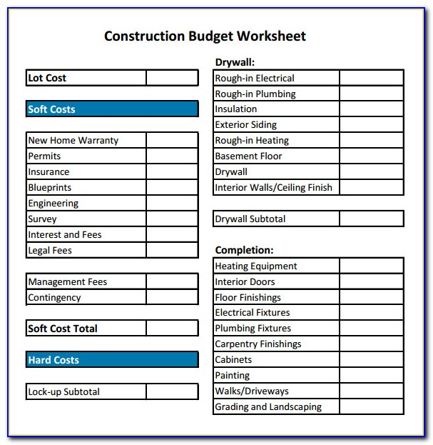 Building Construction Schedule Template