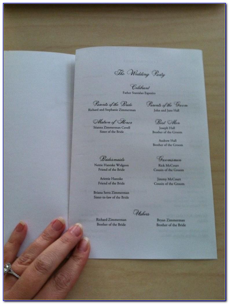Catholic Wedding Mass Booklet Template Ireland