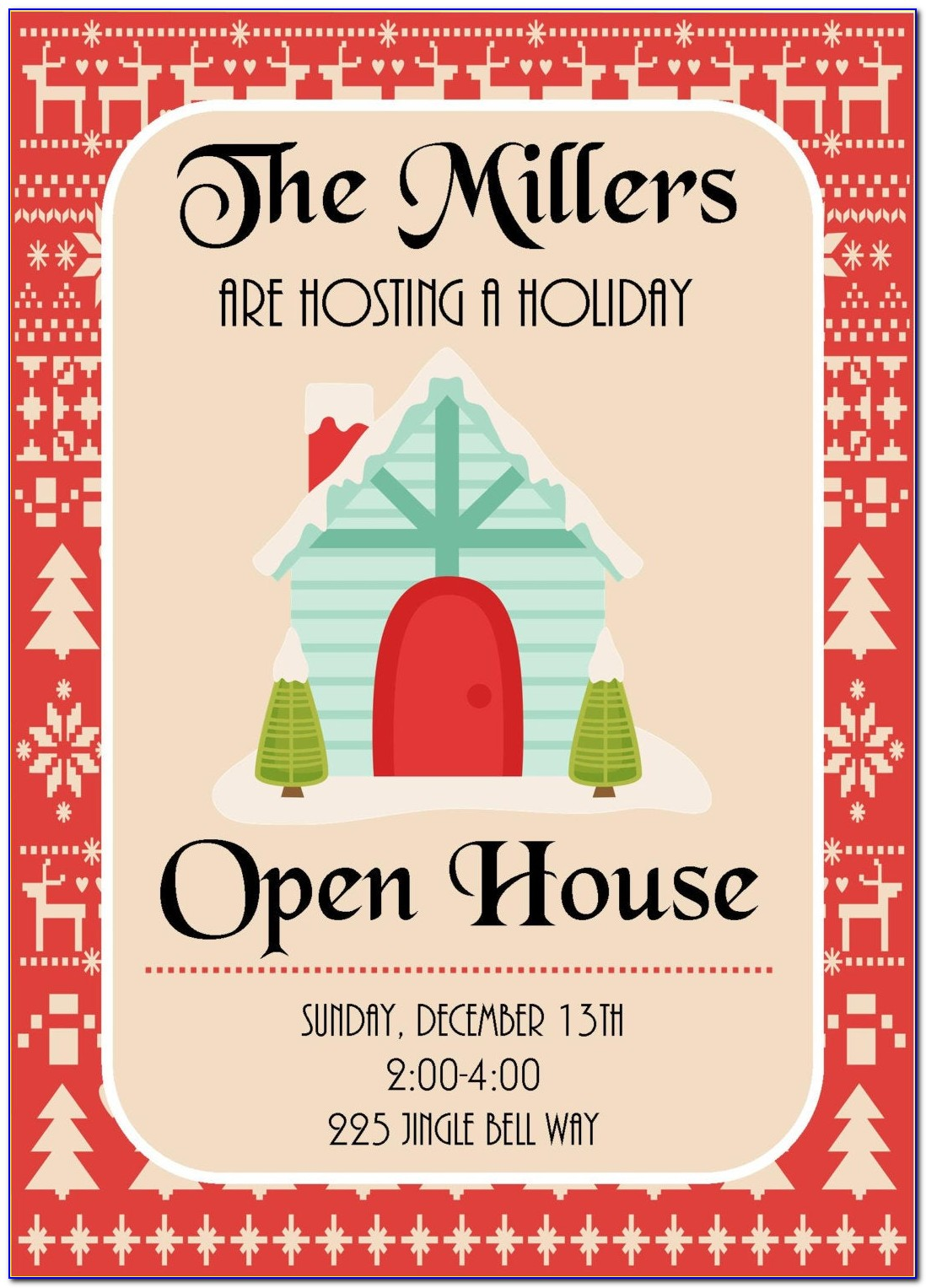 Christmas Open House Invitations Templates