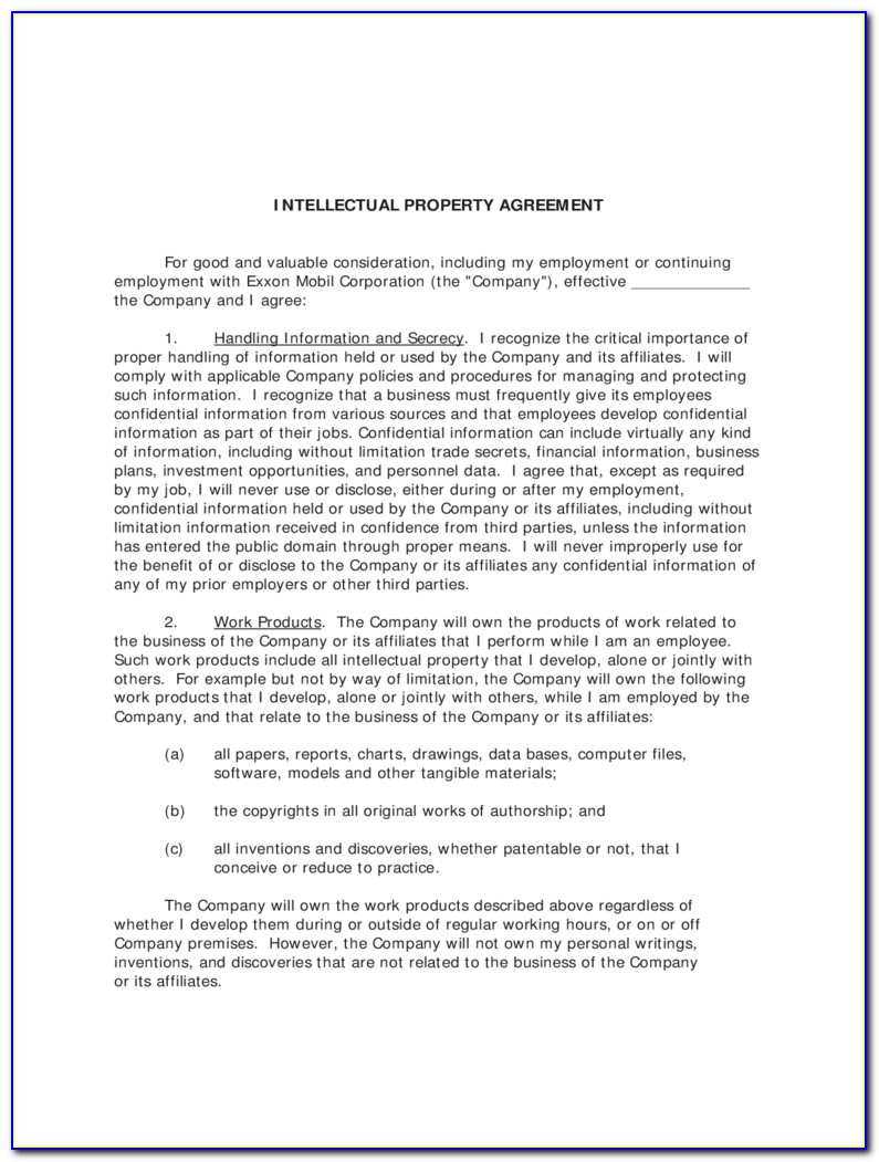 Confidentiality And Intellectual Property Assignment Agreement Template