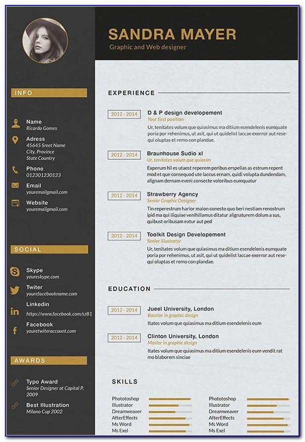 Creative Interior Design Resume Templates