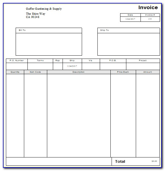 Custom Invoice Templates For Quickbooks