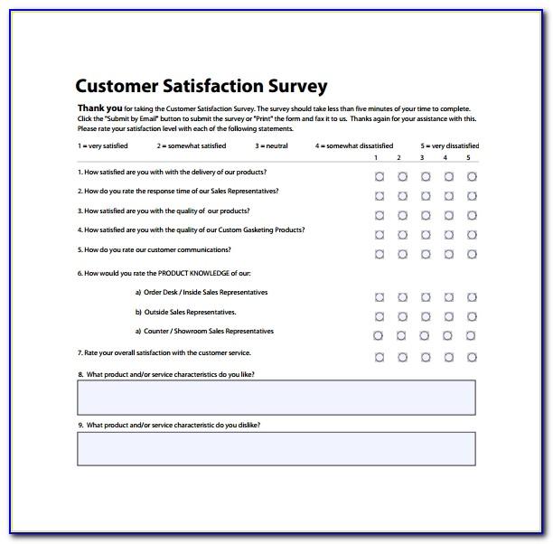 Customer Satisfaction Survey Templates