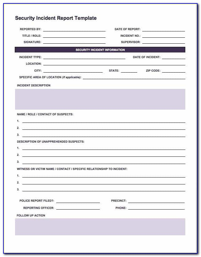 Cyber Incident Response Plan Template Doc