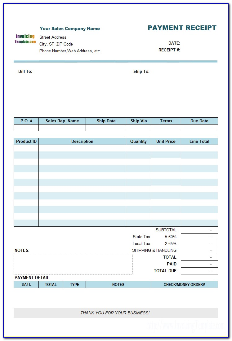 Download Fillable Invoice Form Pdf