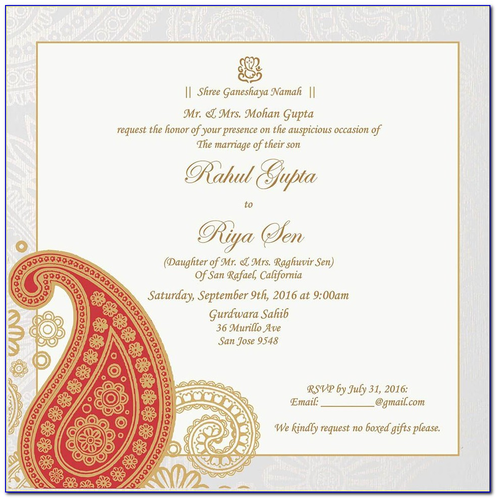 Editable Hindu Wedding Invitation Templates Ppt