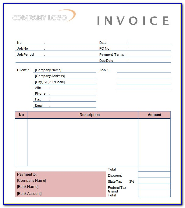 Example Invoice For Photography Services